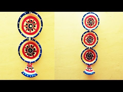 Wall Hanging diy wall hanging using thermocol plate - youtube
