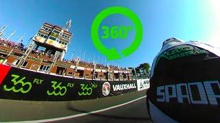 360 degrees 4K 360Fly On Bike Lap - Ryan Kneen - Superbike - Isle of Man TT 2016