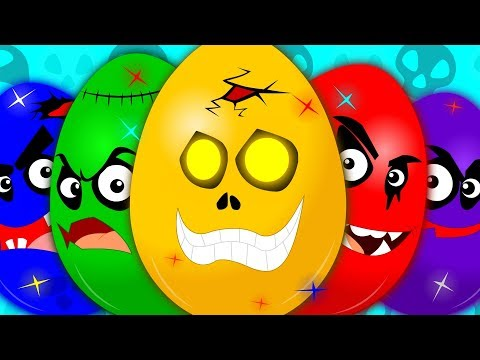 Thumbnail: Learn Colors | Learning Video For Kids | Scary Surprise Eggs | Colors Song | Eggs With Colors