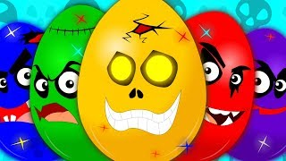 Learn Colors | Learning Video For Kids | Scary Surprise Eggs | Colors Song | Eggs With Colors