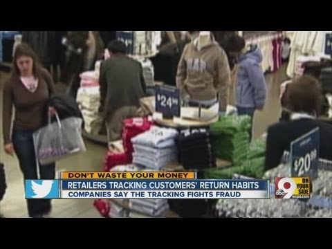 Retailers tracking customers' return habits