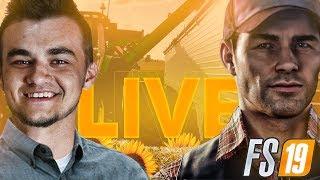 LIVE! Farming Simulator 19 - Ogarniamy gospodarstwo potem od zera!| MafiaSolecTeam - Na żywo