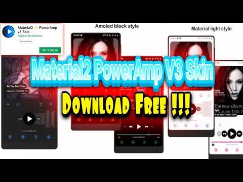 Material2 PowerAmp V3 Skin Download Free !!!