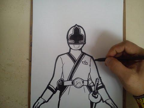 how to draw power rangers samurai gold ranger