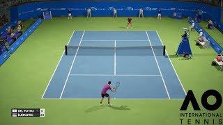 Juan Martin del Potro vs. Novak Djokovic - AO International Tennis - PS4 Gameplay