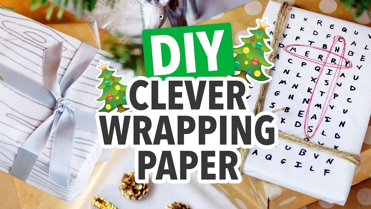 Diy Last Minute Wrapping Paper Christmas 2016 Hgtv Handmade
