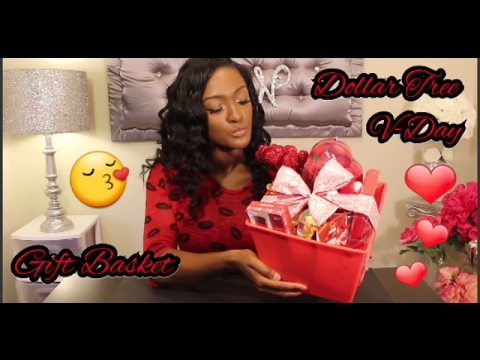 How To Make A Valentine S Day Gift Basket All Dollar Tree Items
