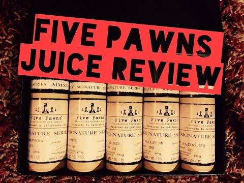 The Drip Tip Juice Review : Five Pawns