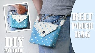 DIY BELT POUCH BAG TUTORIAL  2…