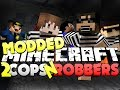 Minecraft Modded Cops and Robbers 2 - CAR MOD (Bodil40, Mitch, Vikk and Woofless)