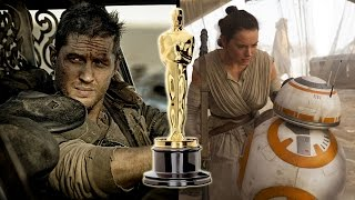 Mad Max Fury Road Lands Oscar Best Picture Nom, The Force Awakens Snubbed