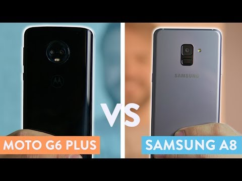 Moto G6 Plus vs Galaxy A8   Comparativo!