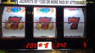 Blazing 7s $1 Slot - 3 Reels & 5x10x Bonus Times Pay $2 Slot Machine @San Manuel Casino & Pechanga