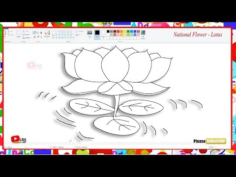 How to draw national flower - Lotus | LearnByArts