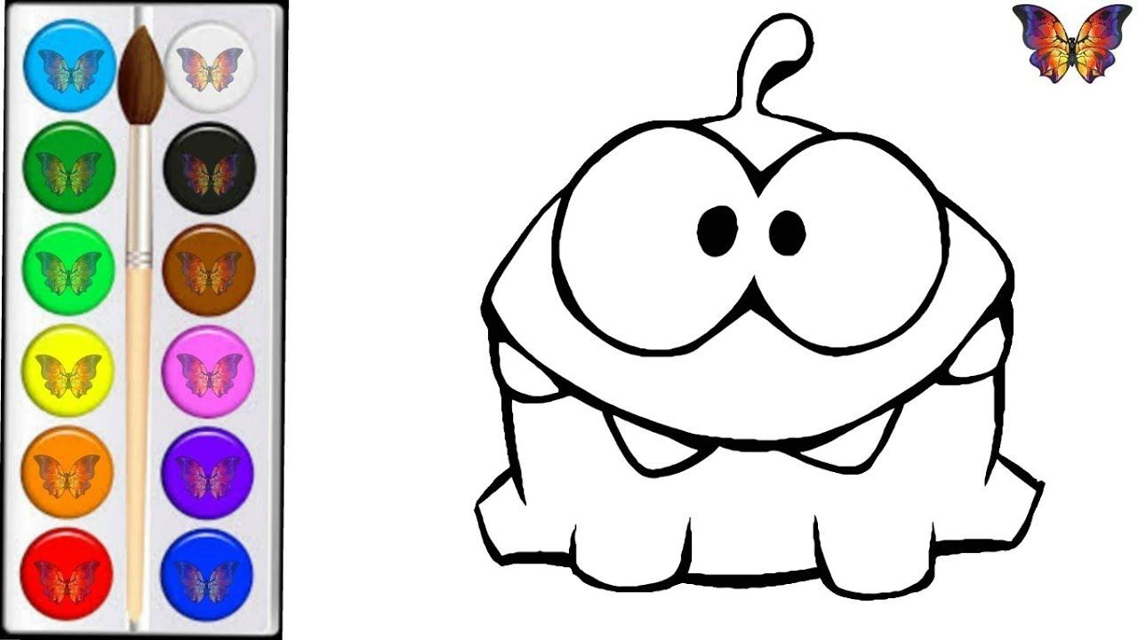 Как нарисовать АМ НЯМ / мультик раскраска АМ НЯМ для детей ...