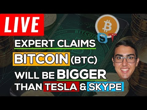 Expert Claims Bitcoin (BTC) Will Be Bigger Than Tesla & Skype