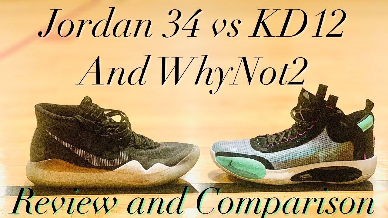 Jordan 34 vs KD12 Full Review and Comparison