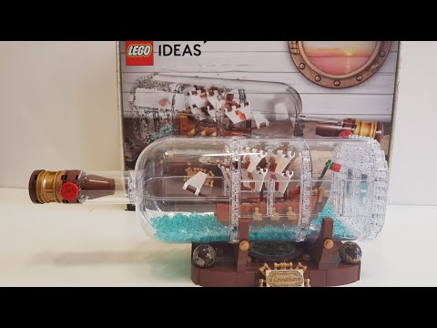 Ship in a Bottle Lego Ideas 21313 - Unboxing & Build Video