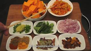 Pumpkin Curry Recipe - How To Cook Great Indian Food - Vegan
