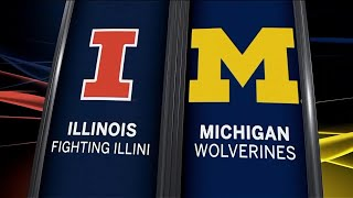 Illinois at Michigan - Men's Basketball Highlights