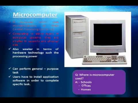Information Technology - Episode 7: The 4 main types of Computer ...