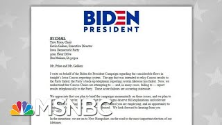 Joe Biden Camp Sends Letter To State Party On 'Acute Failures' In Results   MSNBC