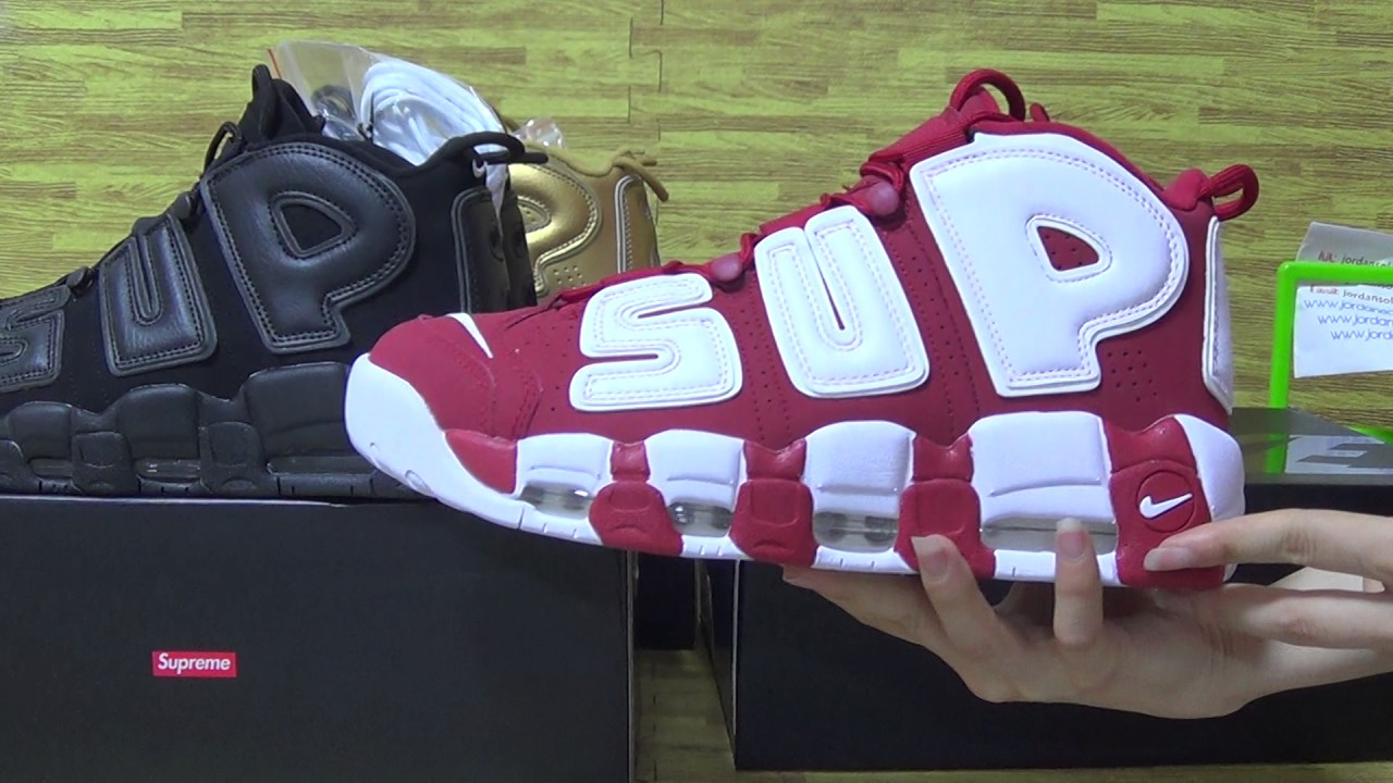 91ef7299bbb Authentic Supreme X Nike Air More Uptempo