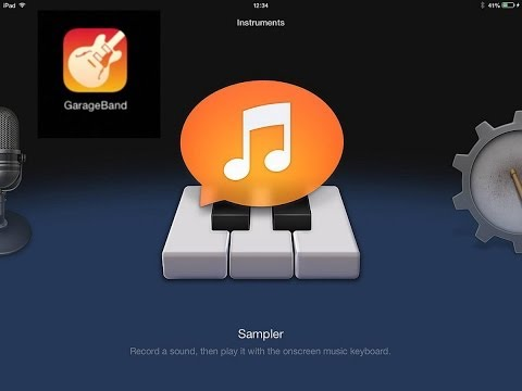 How to import music tracks in to Garage Band  for ipad
