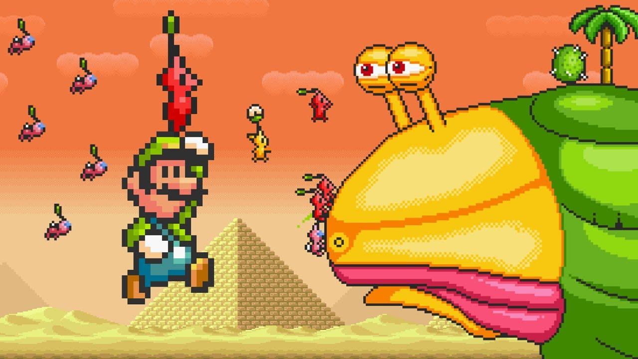 Pikmin in Super Mario Bros 3! - Luigi's Story