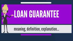 What is LOAN GUARANTEE? What does LOAN GUARANTEE mean? LOAN GUARANTEE meaning & explanation