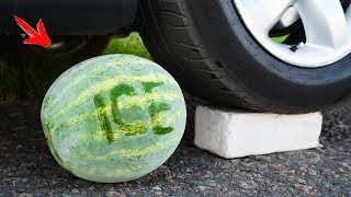 Crushing Crunchy & Soft Things by Car! - ICE WATERMELON vs CAR