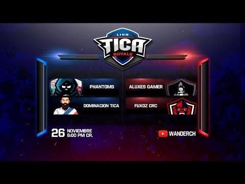 Clash Royale #LTR3:PHANTOMS CR Vs ALUXES GAMERS | DOMINACION TICA vs FUXOS CRC