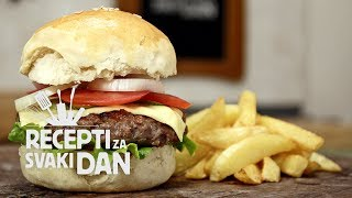 Domaći hamburger - video recept
