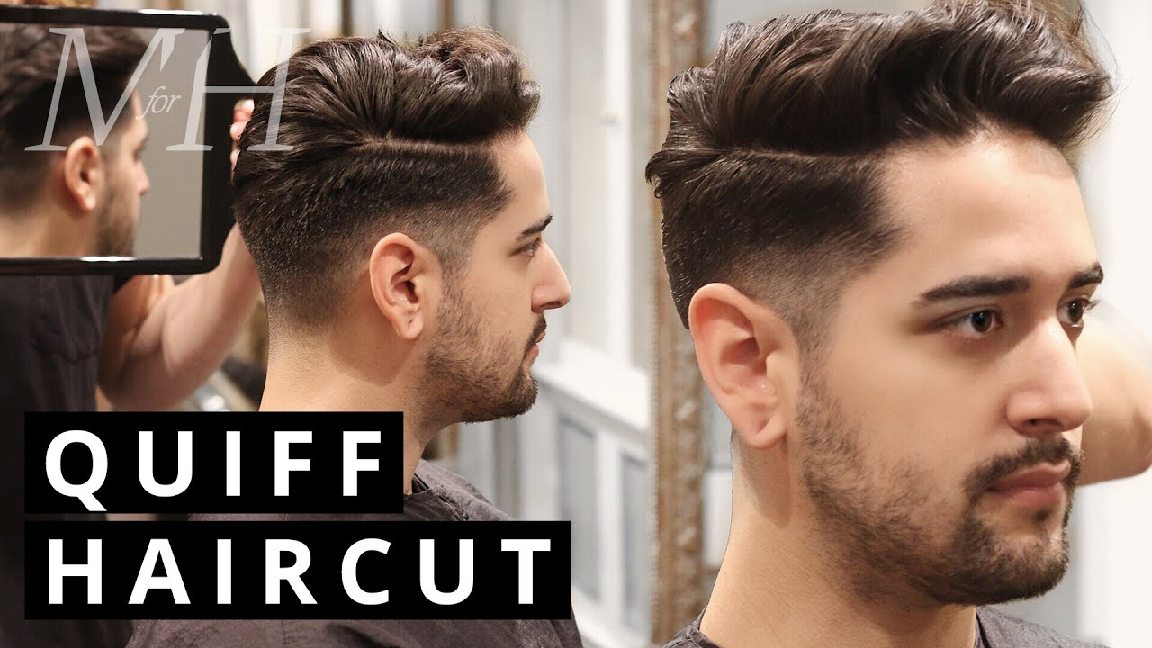Mens Haircut And Style Undercut Quiff Youtube