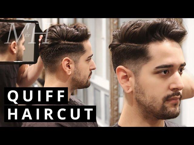Men's Haircut and Style   Undercut Quiff