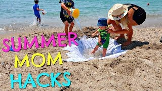 SUMMER MOM HACKS  |  SUMMER MUM HACKS  |  BEACH HACKS