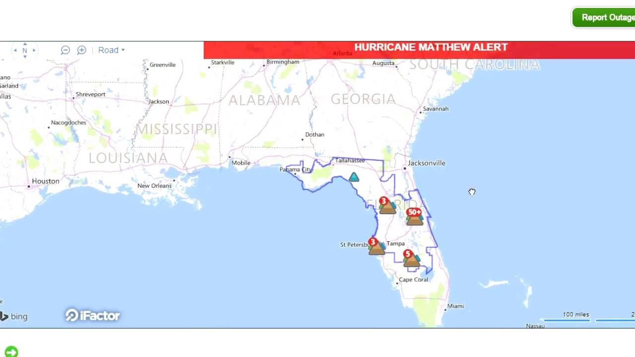 Interactive Live Map Shows Power Outages in Florida!   YouTube