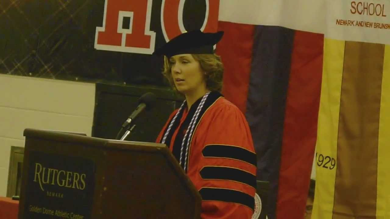 Kim Choma Rutgers Graduation Presentation Youtube