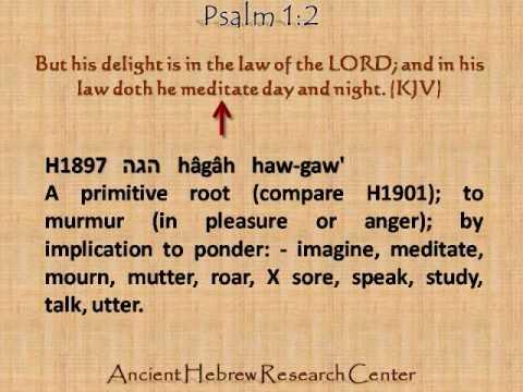 Hebrew Word Studies: Psalm 1 vs  2