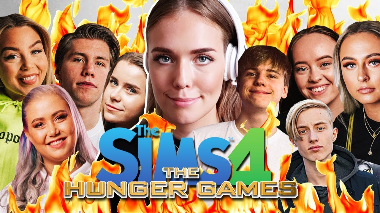 HUNGER GAMES MED NORSKE YOUTUBERE | Norsk The Sims 4