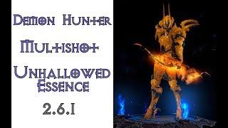 Diablo 3: охотник на демонов Мультишот в сете Сущность Порока