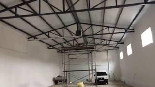 Отопление гаража 300м2 высота потолков 4,5м. Стены сделаны из газобетона.