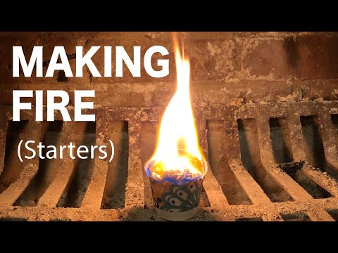How to Make Cheap Fire Starters Using Sawdust // Tips and Tricks
