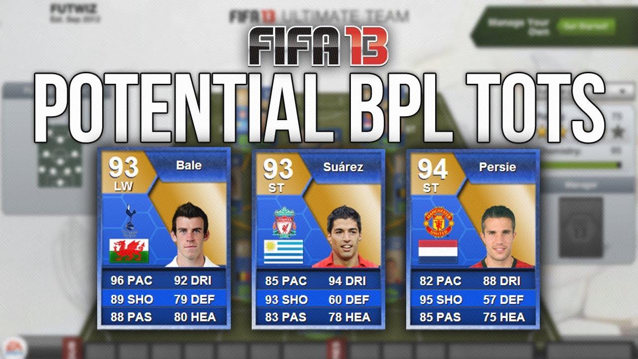 FIFA 13 - Potential BPL Team of the Season - PFA TOTY ...  Fifa 13 Team Of The Season