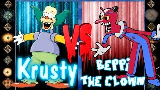 Krusty the Clown (The Simpsons) vs Beppi the Clown (Cuphead) - Ultimate Mugen Fight 2018
