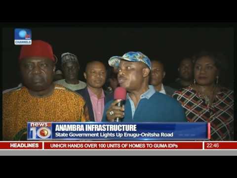 Anambra Infrastructure: State Govt. Lights Up Enugu-Onitsha Road