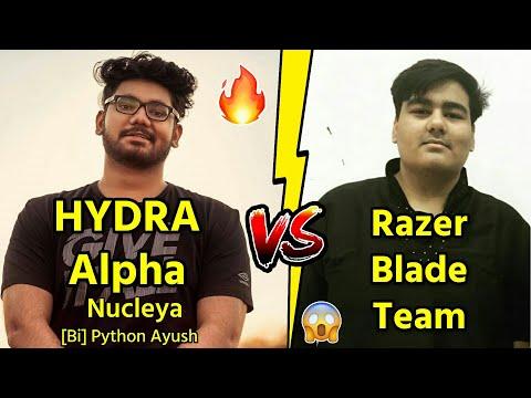 Razer Blade Vs Alpha Clasher Team( Nucleya ,【Bi】Python Ayush ) Fight In Georgopo|  L  Emulator