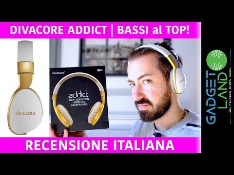 Recensione Divacore ADDICT   Le cuffie con i SUPER BASSI   Bluetooth ed extra comode