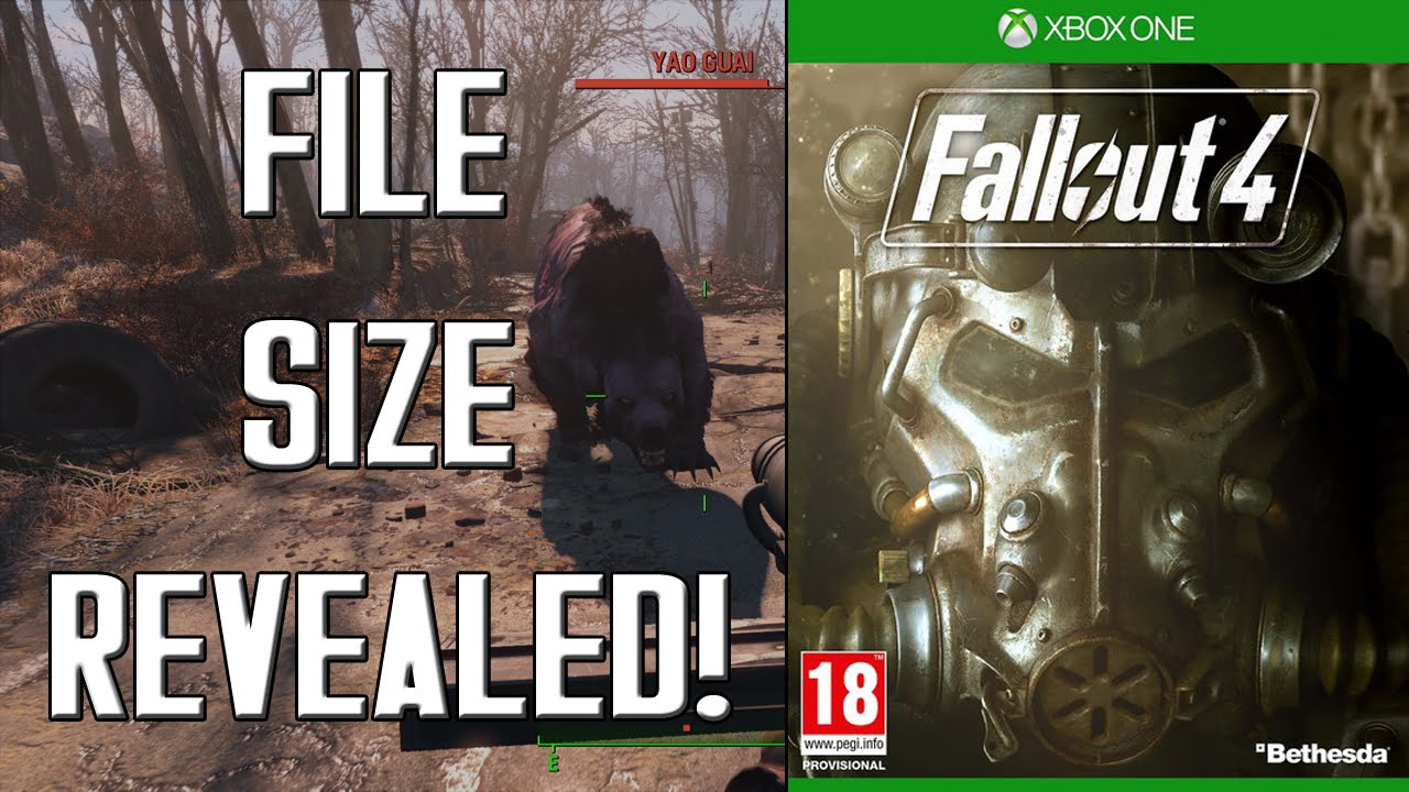 FALLOUT 4: Xbox One File Size Revealed! - YouTube