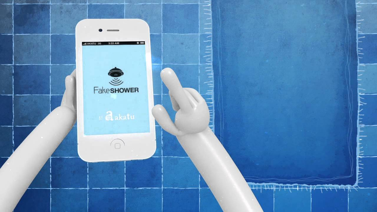 Fake Shower, iOS App Emulates Sound of Running Water To Disguise